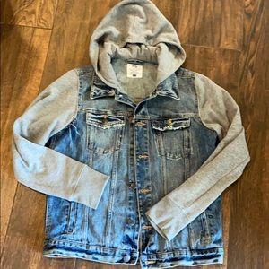 Aeropostale denim jacket with hood
